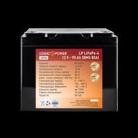 Акумулятор Lifepo4 12V-90 AH (BMS 80A/40A) пластик