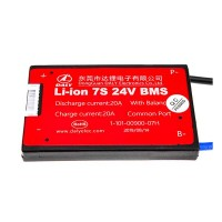 BMS плата Li-ion 24V 7S 20A