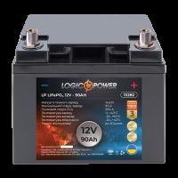 Акумулятор LogicPower Lifepo4 12-90 AH (+ справа, зворотна полярність)