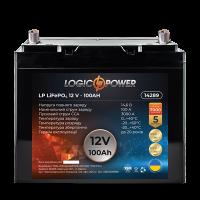 Акумулятор LogicPower Lifepo4 12-100 AH (+ справа, зворотна полярність)