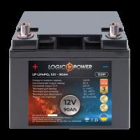 Акумулятор LogicPower Lifepo4 12-90 AH (+ зліва, пряма полярність)