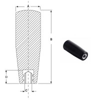 Ручка цилиндрическая M8, L73mm