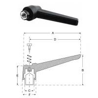 Ручка важіль M10, L70mm