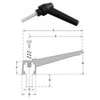 Ручка важіль M10х20, L60mm