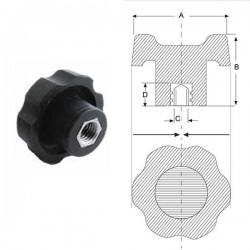 Ручка зірочка M8, D40mm