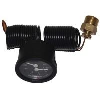 Термоманометр капиллярный CEWAL TI 52 P 0-120 °C/0-4 Bar